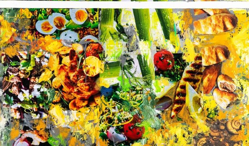 De culinaire afbeeldingen zorgen voor onverwachte vrolijk makende combinaties.