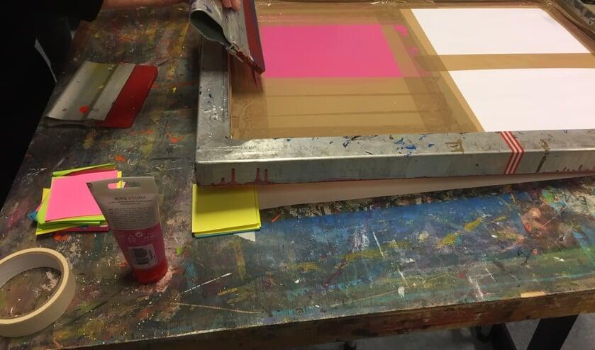 De workshop zeefdrukken start eind oktober.