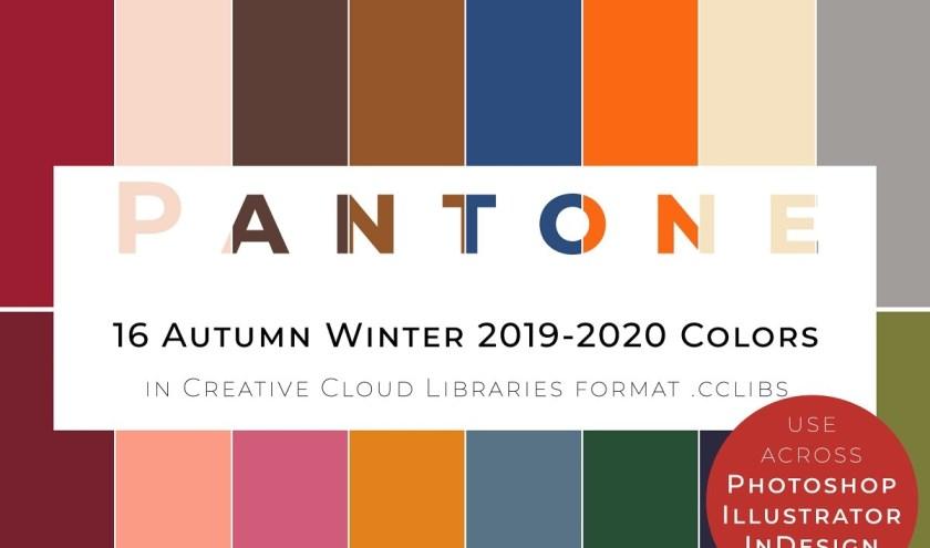 De 16 herfst-/winterkleuren van Pantone.