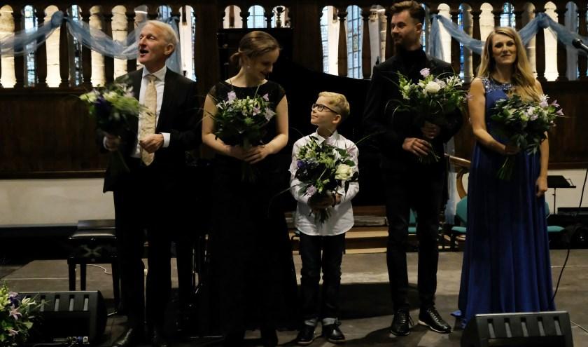 Jaap Kooi, Sterre Kooi, David Kooi,Frank Keizer en Daisy Correia.