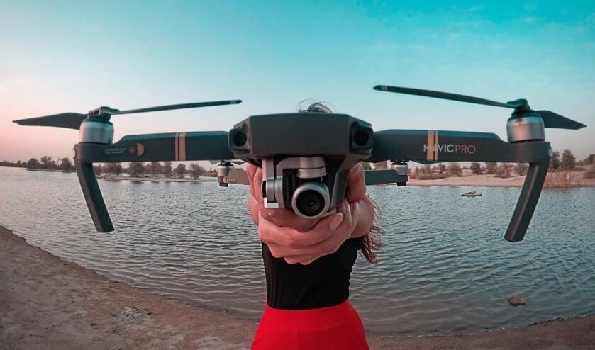 Drones helpen bij het toezicht houden.
