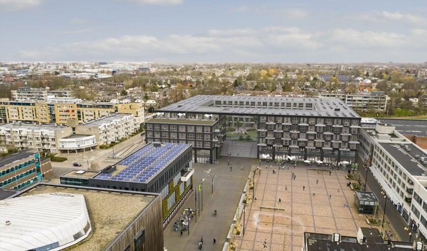 Voorbeeld van bouwen in de bestaande stad. In het Stadshart begint M.J. de Nijs Projectontwikkeling B.V. begin 2020 met de bouw van 207 appartementen. Het gebouw krijgt een parkeergarage op straatniveau. Boven de parkeergarage wordt een groen binnenhof gerealiseerd. De 207 woningen zijn verdeeld ove