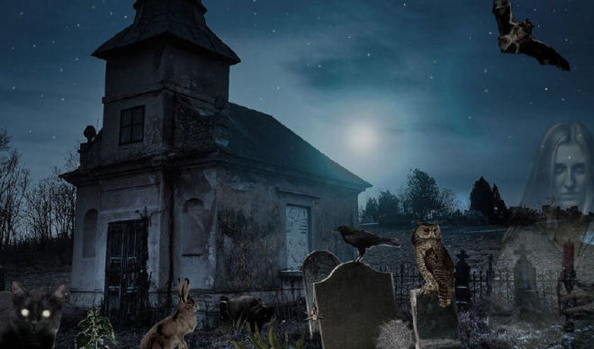 Griezel mee in de spooknacht in het Groene kerkje in Lambertschaag.