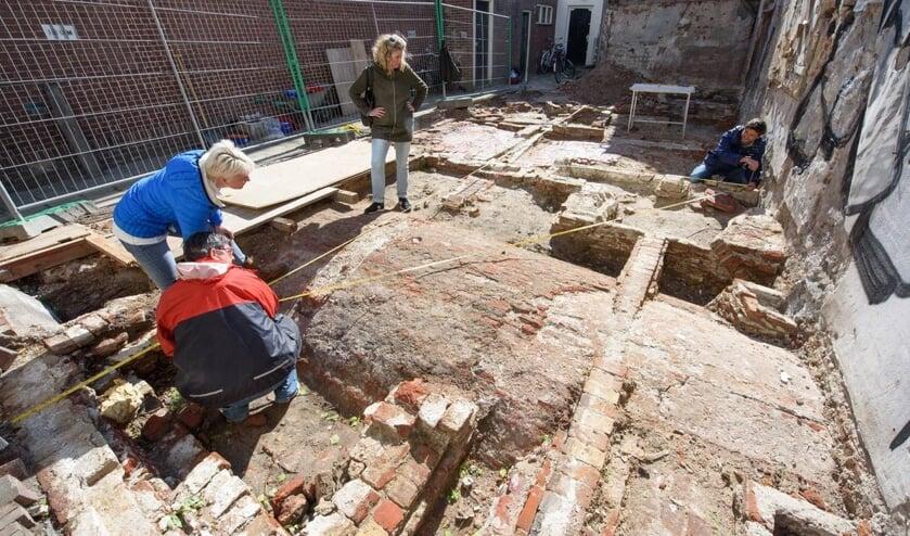 Het archeologisch onderzoek in de Gierstraat in 2018.