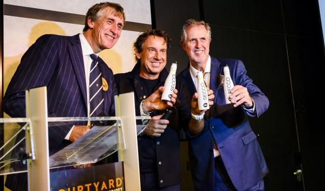 Leo Claus, Marco Borsato en Rick Claus.