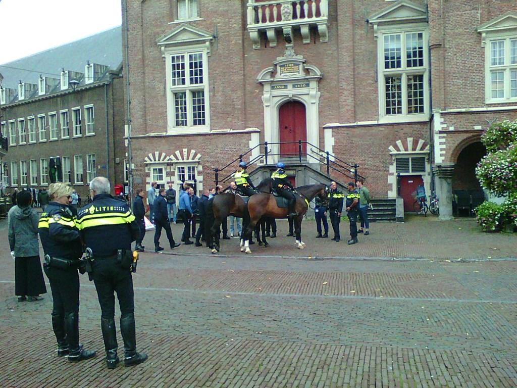 De paarden trokken bekijks van het winkelend publiek. Foto: Ad Timmers © rodi