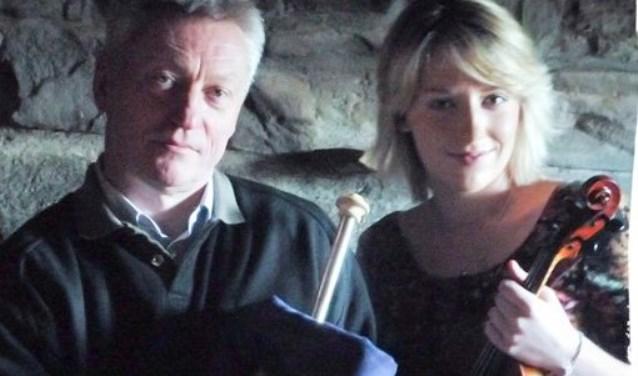 Aoife en met haar vader Mick O'Brien.