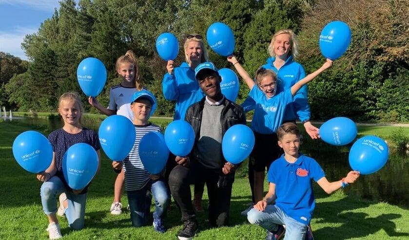 Het Streekbos kleurt weer blauw tijdens de UNICEF Loop.