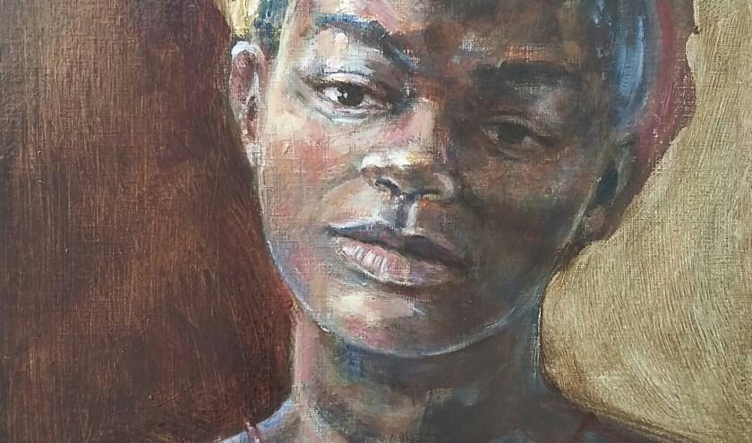 Tanzaniaans meisje wat model heeft gestaan voor de Rembrandt tentoonstelling