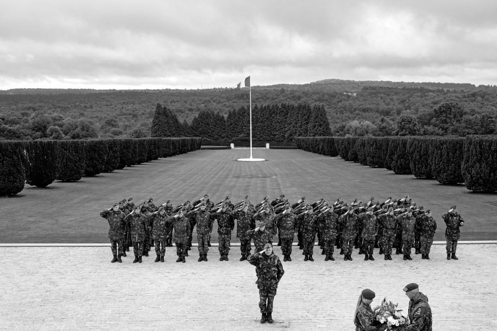 In 2016 herdenkt het Nederlandse leger in Douaumont de Slag bij Verdun, die in 1916 plaatsvond.  (Foto: cor oorthuijsen) © rodi