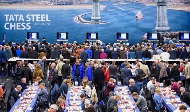 Beeld van het Tata Steel Chess Tournament 2019.