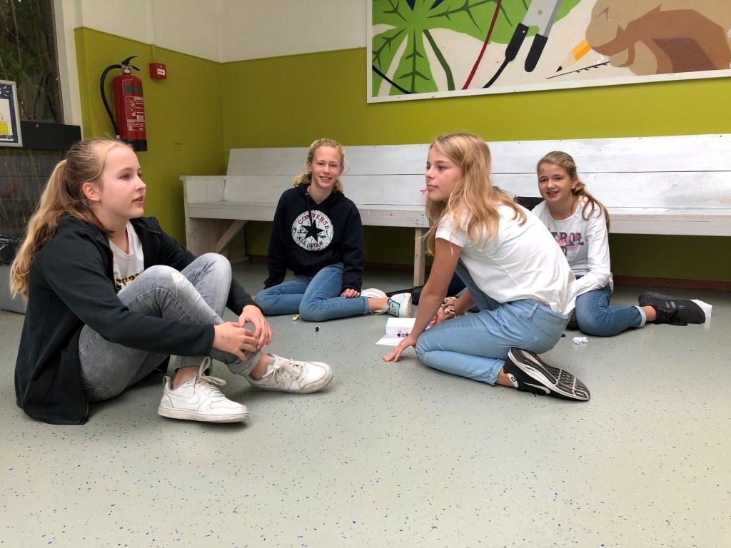 v.l.n.r. Liselot (12 jaar, Schoorl), Elise (11 jaar, Bergen), Roos, 12 jaar, Schoorl), Fleur (12 jaar, Schoorl) Machteld Wiegmans © rodi