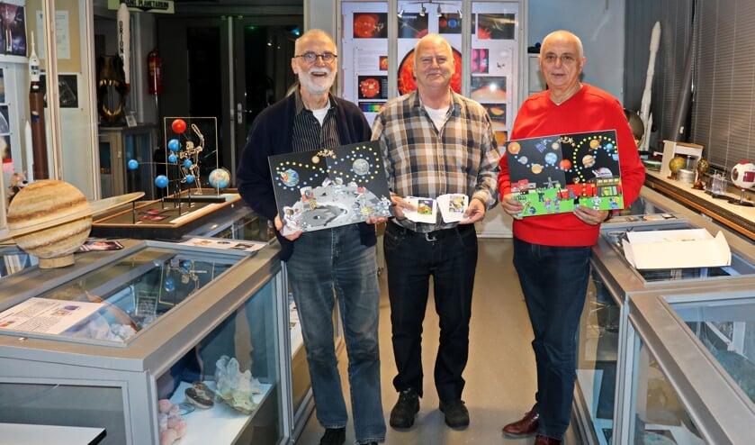 De ontwikkelaars van het bordspel 'StarRun': Anne Heeringa, Theo Mulder en Jaap Braak (v.l.n.r.).