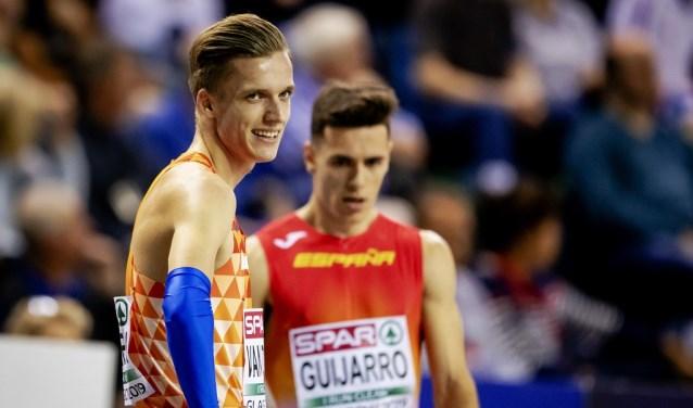 Tony van Diepen voorafgaand aan zijn bronzen race in Glasgow.
