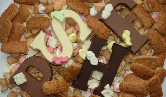 Chocoladeletters en strooigoed... Lekker!