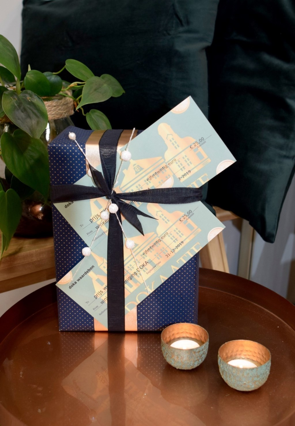 Doka waardebonnen worden cadeau gedaan tijdens en na de feestdagen.  © rodi