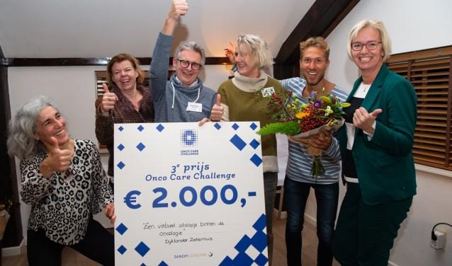Het ziekenhuis won met de pilot de derde prijs en incasseerde tweeduizend euro.