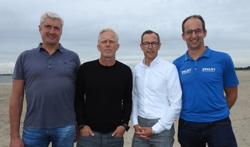 De mannen in de organisatie achter team Palet: Bas Baartman, Sytse Prins, Jan Pleijsier en Eelco Kooistra. ,,We hebben sympathie voor de sport en gevoel bij het team.'' (Foto SkateNL)