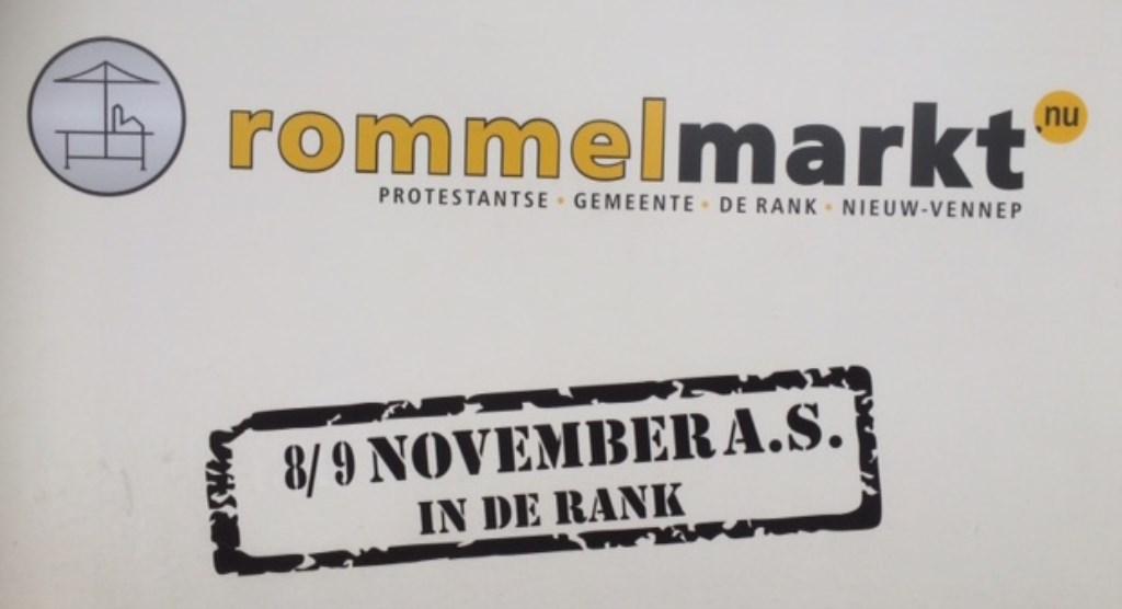 Rommelmarkt in De Rank.  (Foto: Archief Rodi) © rodi