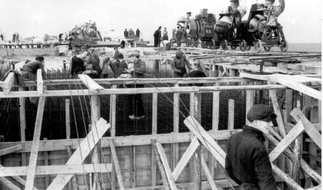 Een bunker in aanbouw.
