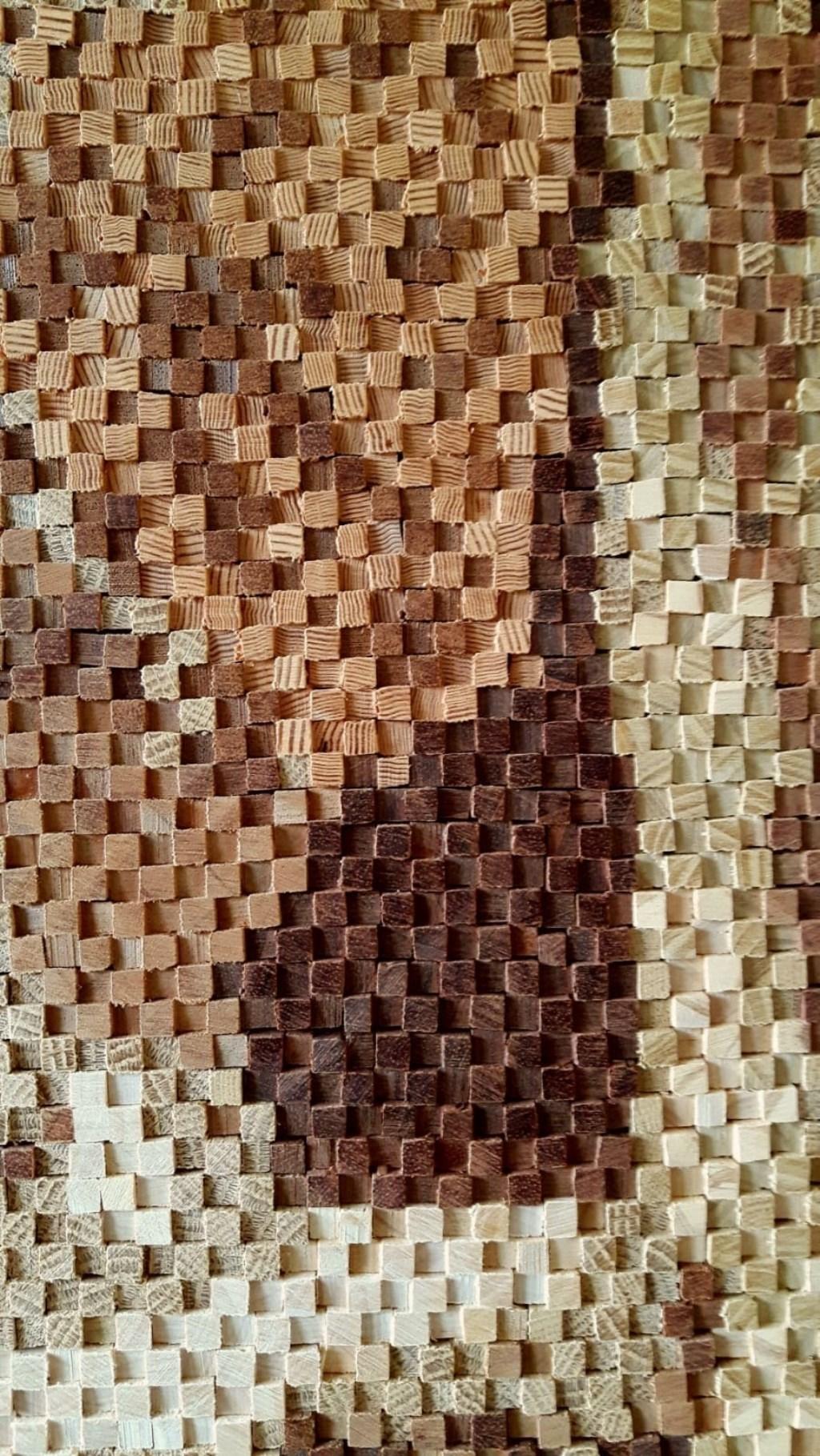 De werkwijze met de houten staafjes in detail gefotografeerd.  (Foto: Aangeleverd) © rodi