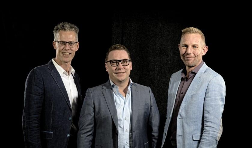 Bedrijfsleiders v.l.n.r. Ronald Kortekaas (Locas), Arjan van der Veldt (Goes Plooy) en Paul Swart (Stef Swart).