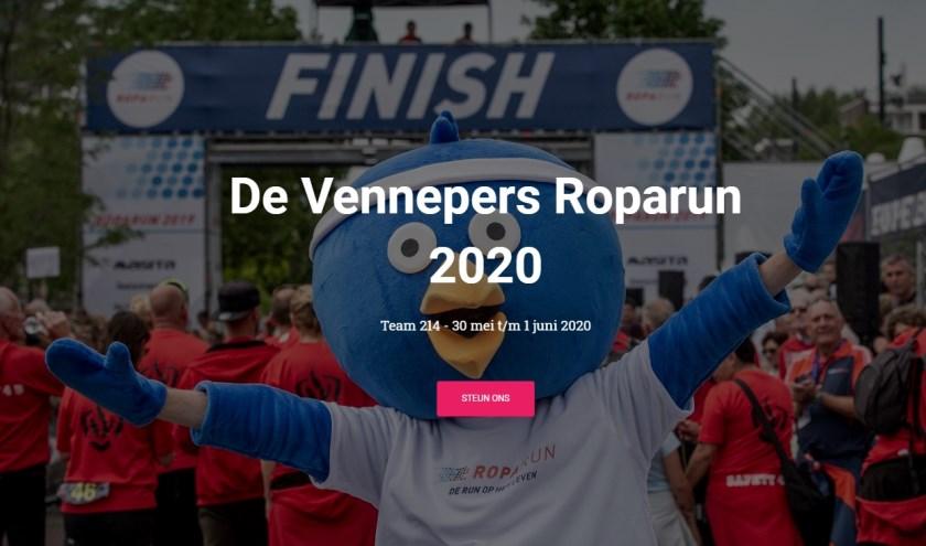 Team de Vennepers doet mee aan de Roparun.