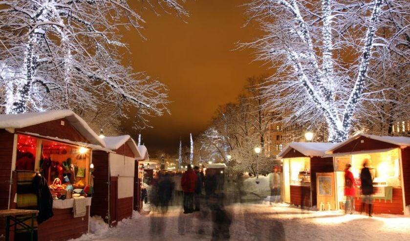 Kerstkramen op Wintermarkt