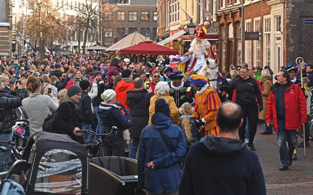 Sinterklaas slaat een rit op de Groenmarkt niet over.