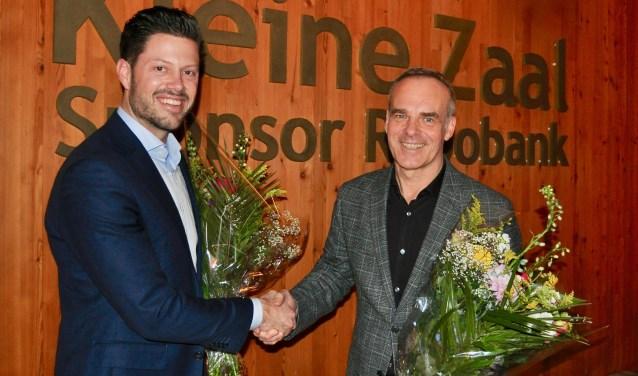 Tom Doomernik en Edwin van Balken zijn blij met de verlenging van het contract.