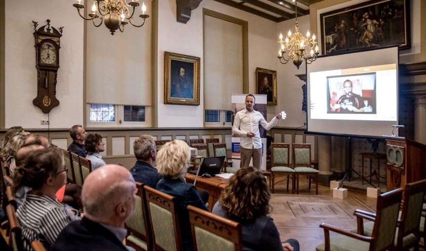 Matthijs Vink was gastspreker tijdens bijeenkomst 'Ondernemen is topsport'.