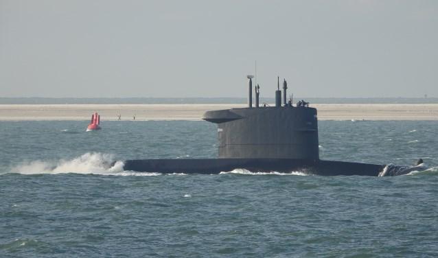 De gespotte onderzeeboot.