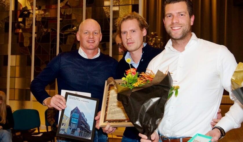 David Zentveldt (Kennemerhaeve), en Bas Verlaan met Marco Kramer van Pro6 Vastgoedontwikkeling werden winnaar met