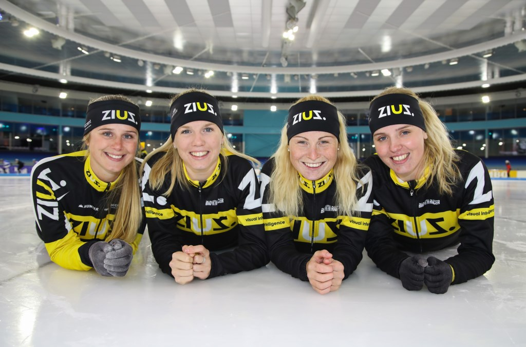 Het 'niuwe'team ZiuZ, met vlnr Kelly Schouten, Elisa Dul, Marijke Groenewoud en Maaike Verweij. (Foto TimsImaging)  © rodi