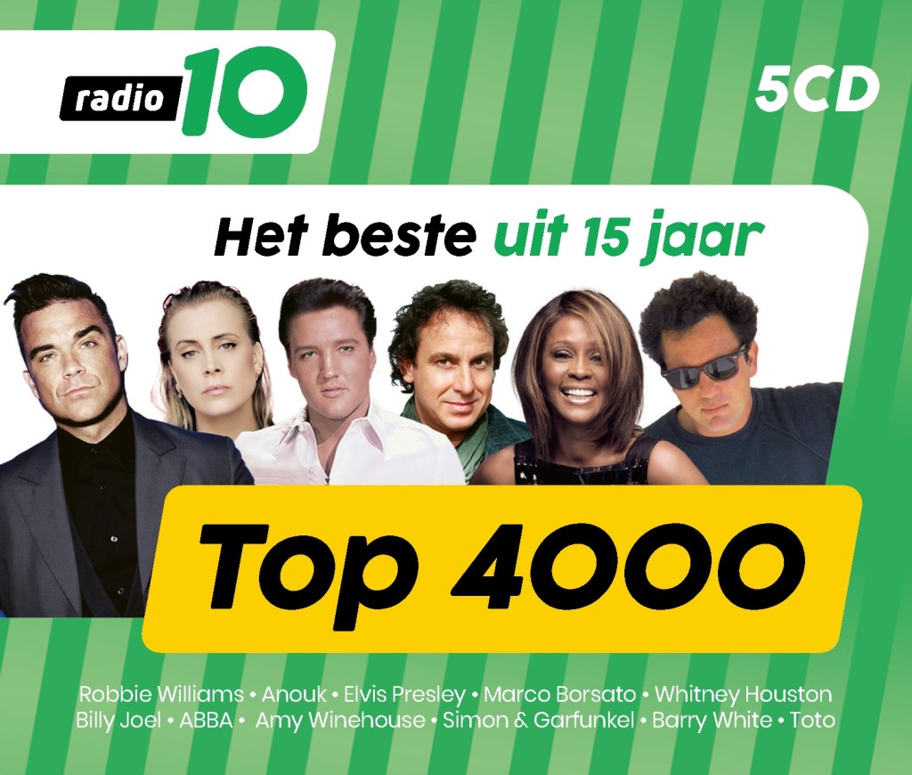 De Top 4000 van Radio 10.   © rodi