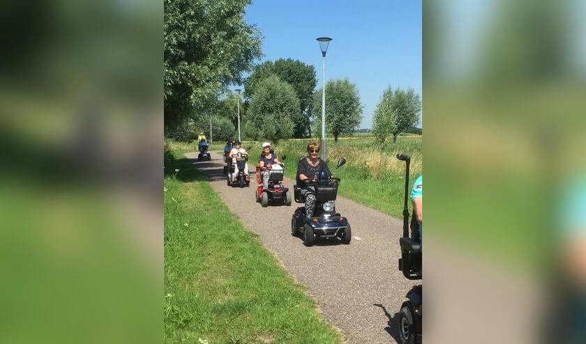 Scootmobielgroep de Rondrijders trekken volgend seizoen er weer op uit.