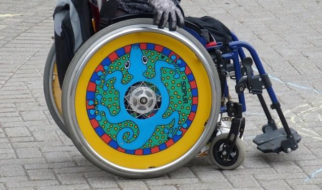 De open sportdag is rolstoelvriendelijk.