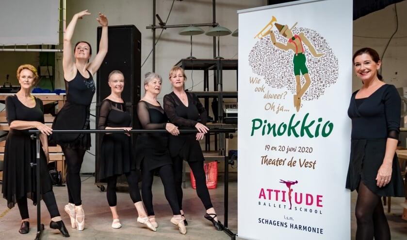 Balletschool Attitude en Schager Harmonie al bezig met nieuwe voorstelling over Pinokkio.