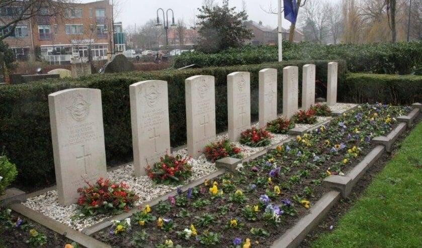 De graven van de gevechtsvliegers.