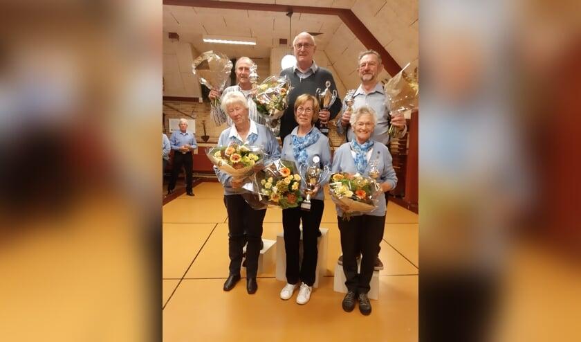 De zes finalisten van de jaarlijkse Dokter van BalenBlanken beker. In het midden beide winnaars.