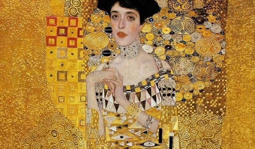 Bekend werk van Klimt: 'Portret van Adèle Bloch-Bauer'.