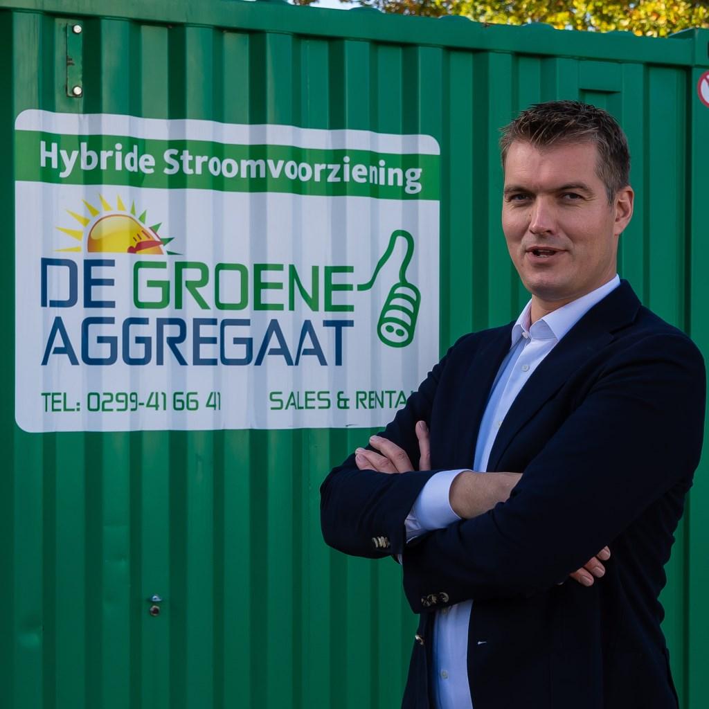 Ruud Kraakman bij het vlaggenschip van Maru Systems: De Groene Aggregaat. (Foto: Han Giskes) © rodi