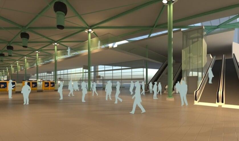 Een impressie van Schiphol Plaza in 2025.