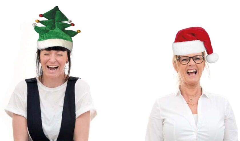 Dat wordt vast een vrolijke Kerst met Anna en Irma.