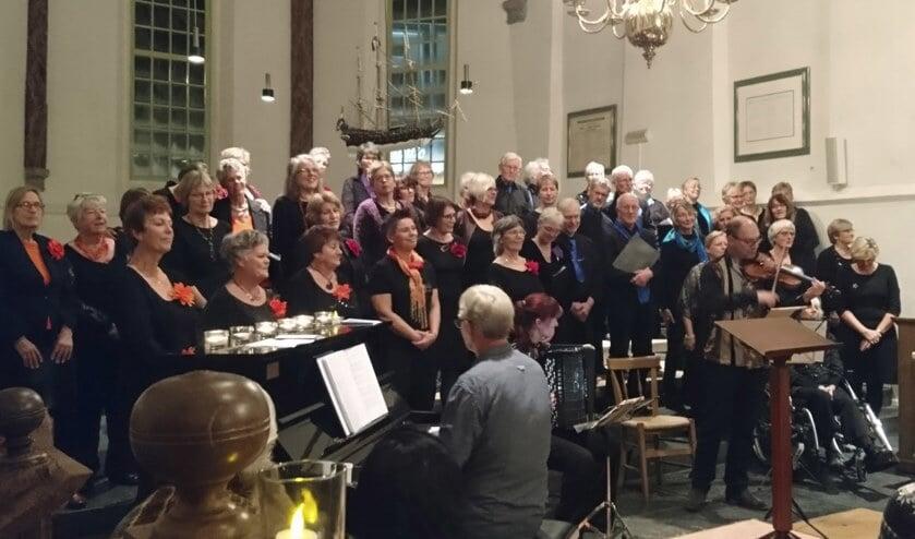 Het orkest van Harmonie Apollo Zaandijk.