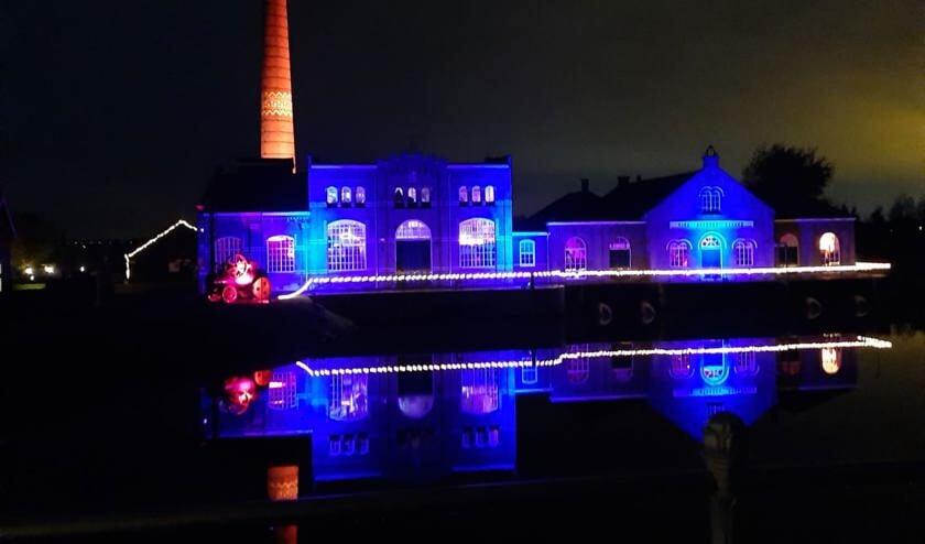 Het stoommachinemuseum is prachtig verlicht.
