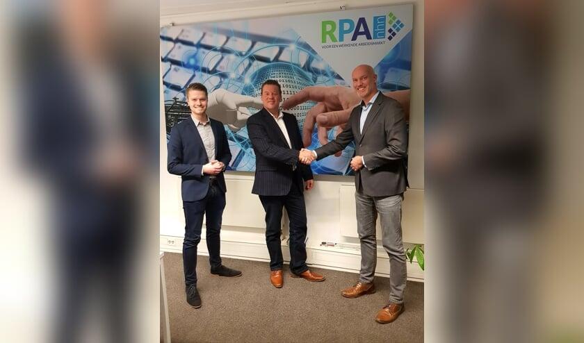 van links naar rechts: Brian Verweij (Strategie en beleid RPAnhn), Ben Tap en Jeroen Veerman (stuurgroep RPAnhn).