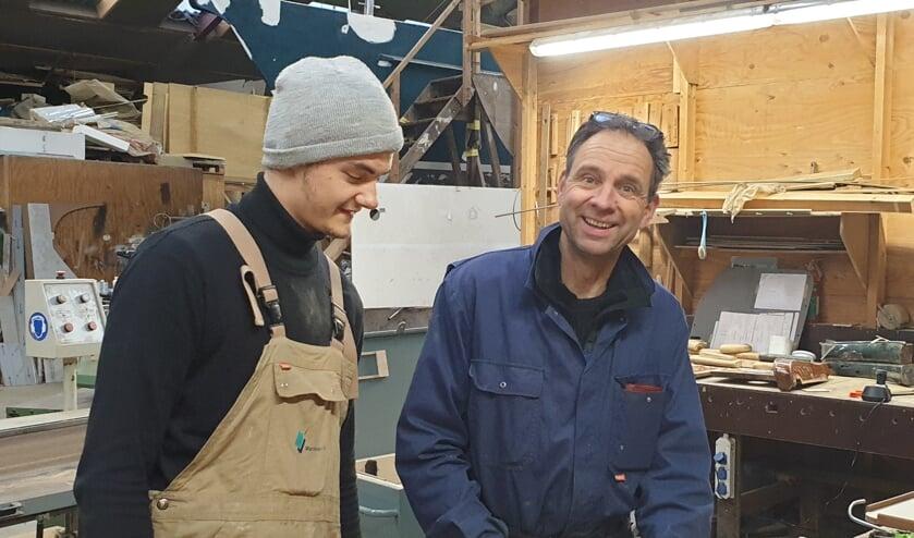 Leerling Joost Stolk en Pim Stofberg samen werkend aan de toekomst.