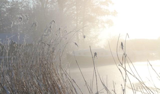 Genieten in een winterse omgeving.