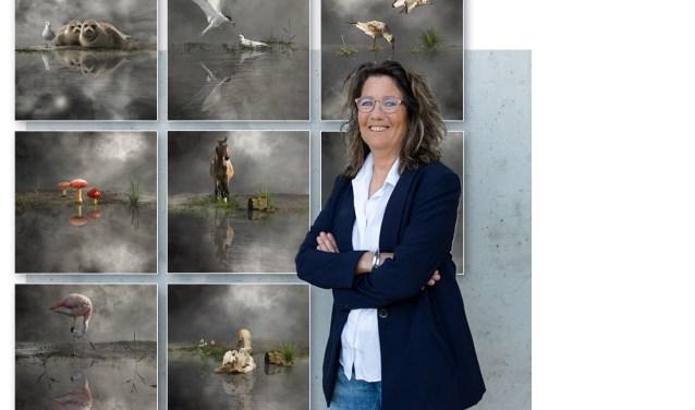 Digitaal kunstenares Cora Deutekom voor haar serie Mirror Mirror.